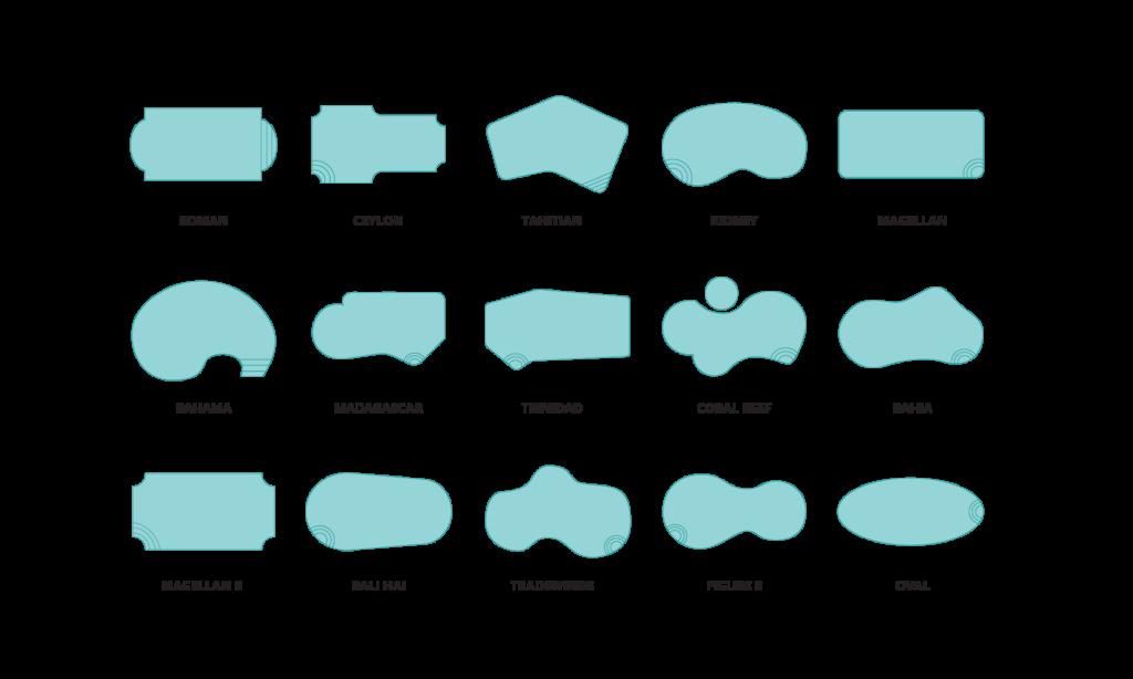 Exemple de formes de piscine