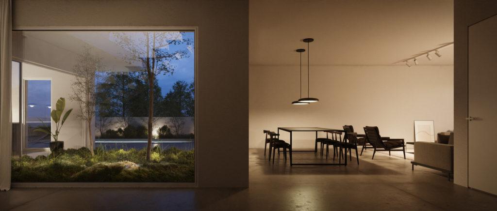 La translucidité architecturale offre une intimité sans affecter les intérieurs bien éclairés