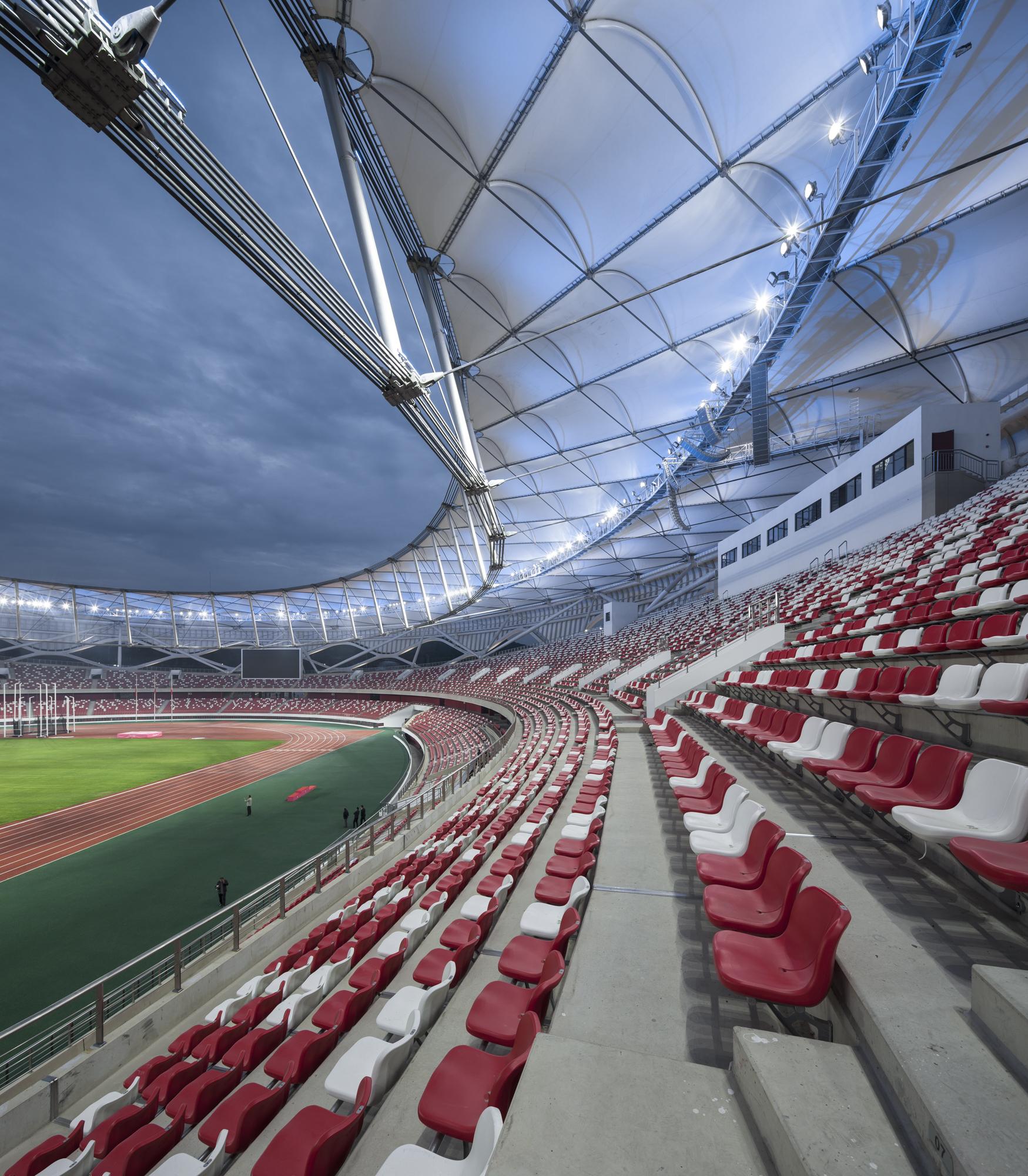 Stades cultes Stade Zaozhuang par Shanghai United Design Group, Shandong, Chine