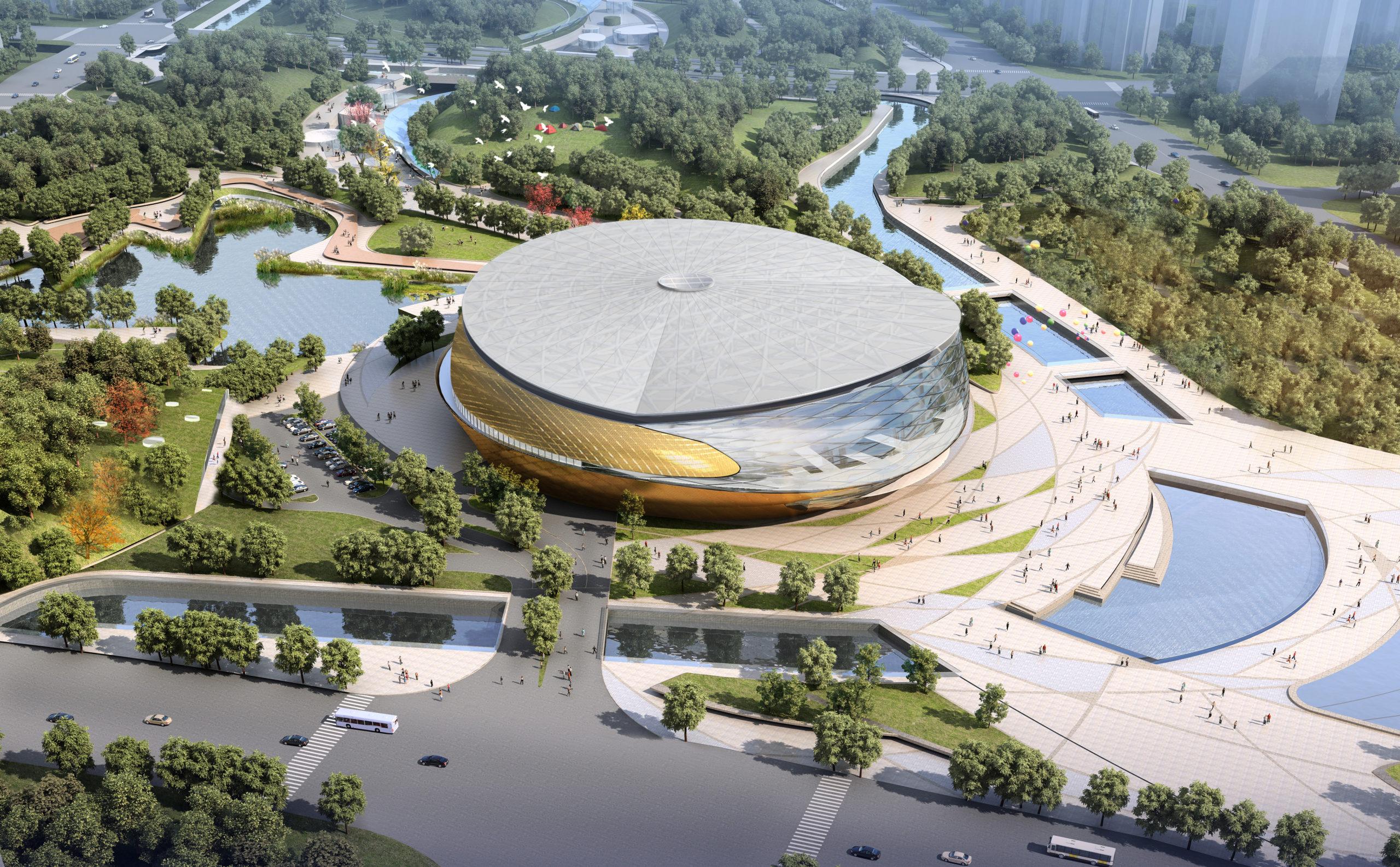 Stade culte Jeux asiatiques de Hangzhou 2022 par Archi-Tectonics, Hangzhou, Chine