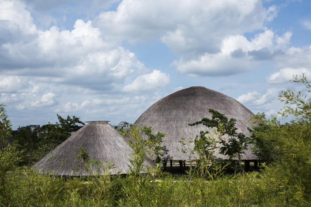 Toit en dôme du centre communautaire de Diamond Island